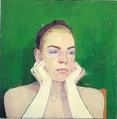 Euan Uglow: Mandi, 1985-89, oil on canvas laid on panel, 15 x 15 inches