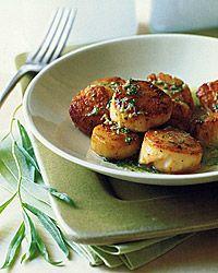 http://www.foodandwine.com/recipes/scallops-with-tarragon-butter-sauce