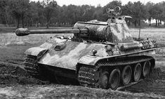 German Panther tank with an infrared scope attached, probably late 1944.