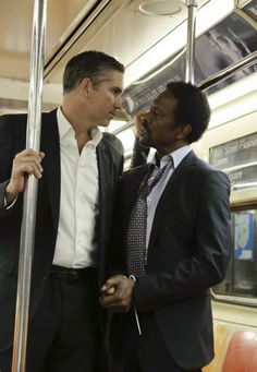 Season 3 Episode 9 Reese and the Head of HR on the NYC Subway - as Reese and Carter are taking him to FBI.