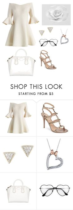 """""""55"""" by mbubbles109 ❤ liked on Polyvore featuring Chicwish, Valentino, Adina Reyter, Disney and Givenchy"""