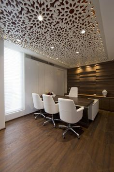 brendan office wood panels design cosmos has completed the design of a new office for tulip infratech a real estate development firm based in gurgaon - Wooden Wall Paneling Designs