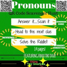 Amazon hands on math projects with real life applications have your students practice identifying pronouns while integrating technology this qr code scavenger hunt is fandeluxe Image collections