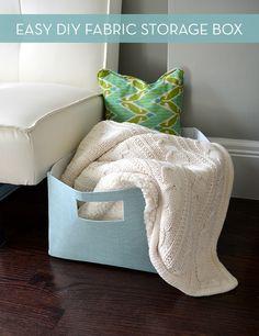 How to make a simple #DIY fabric storage basket! Sooo easy!