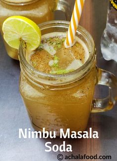 Nimbu Masala Soda is a recipe of summer drink in hindi & english with step to step directions with photos and recipe video,tips and variation Other Recipes, My Recipes, Cooking Recipes, Summer Recipes, Dessert Recipes, Desserts, Spicy Drinks, Healthy Drinks, Mango Drinks