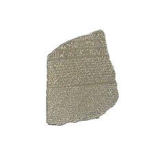 Rosetta Stone metal magnet. British Museum Store.