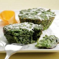 Ricetta Tortino Dietetico Al Parmigiano e Spinaci: 141 Calorie