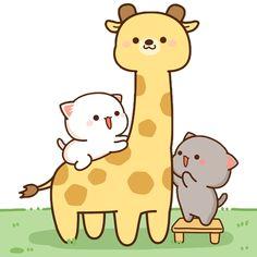 Cute Cartoon Images, Cute Love Cartoons, Cute Cartoon Wallpapers, Cute Images, Cute Bear Drawings, Cute Animal Drawings Kawaii, Cute Love Gif, Cute Love Pictures, Chibi Cat