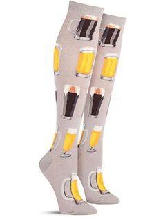 Fun Novelty Craft Beer Knee High Socks for Women