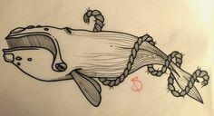 © SailorDave – 2015   Whale #tattoo #tattoos #ink #inked #tattooartist #artist #swissmade #swisstattoo #whale #rope #ocean #sailor #dave #sailordave