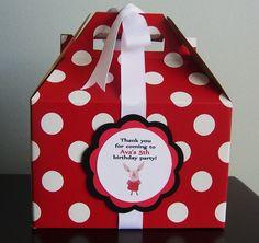 Olivia Favor Boxes - 12 Personalized Favor Boxes - Nick Jr.. $30.00, via Etsy.