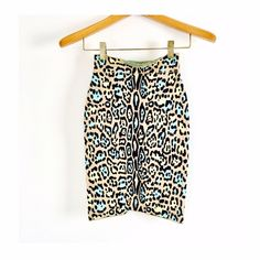 BCBGMAXAZRIA Leopard midi bodycon skirt Colorful leopard pencil skirt in perfect condition! As seen on Kim Kardashian, Heidi Klum, Wendy Williams and more! BCBGMaxAzria Skirts Pencil