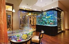 one day i will have an epic aquarium bar such as this one