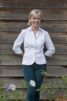 Just White shirt, NYDJ corduroy trousers, both Elizabeth Rose, Tenterden