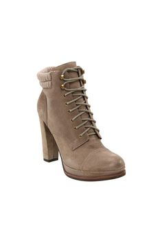 Lacing Knitted Detailing Khaki Boots [AS1537] - $162.99 :  romwe,com