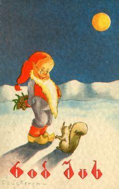 Vintage Christmas Cards, Christmas Photos, Vintage Cards, Vintage Paper, Vintage Postcards, Christmas Postcards, Norwegian Christmas, Scandinavian Christmas, Christmas Fairy