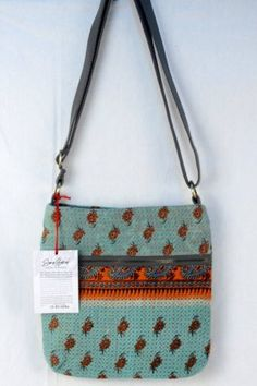 SARI BARI: Beautiful blankets, bedding and throws sewn out of vintage sari material.  Made by women either vulnerable to trafficking or rescued from it.  Each item bears the name of the women who made it. Bida small cross body bag