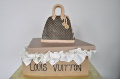 Louis Vuitton Purse Cake! Sugar Bee Sweets Bakery www.sugarbeesweets.com Party Cakes, Bakery, Bee, Louis Vuitton, Sweets, Sugar, Purses, Celebration Cakes, Sweet Pastries