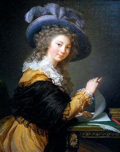 Louise-Elisabeth Vigée-Lebrun (French artist, 1755-1842) Lady Folding a Letter 1784