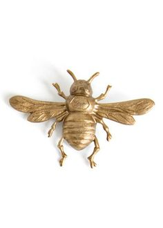 Brass Magnets Pack of Three Bees | ShopKitchenDesigns.com - Kitchen Designs by Ken Kelly Designer Decor for Your Kitchen and Bath