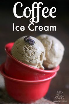 Homemade Coffee Ice Cream (also has a link for strawberry)