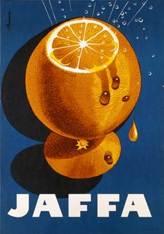 "Jaffa ""Appelsiini"" 1956 - poster by Erik Bruun Retro Advertising, Vintage Advertisements, Vintage Ads, Advertising Campaign, Poster Ads, Poster Prints, Poster Layout, Posters Vintage, Large Artwork"