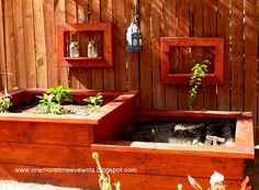 Tiered Planter Design Using Redwood