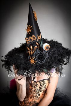 One size fits all Black and Orange Halloween Gothic by Glamtastik, $99.99