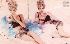 """The Sisters"", Vogue Italia, July 1990Photographer: Ellen von UnwerthModels: Christy Turlington & Linda EvangelistaMakeup..."