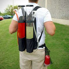 Be the life of the party and keep the booze flowing with the Dual Tank Backpack Drink Dispenser. Its two taps have a combined capacity of Also Tgif, Kool Aid Man, Wine Dispenser, Grilled Chicken Wings, I Love Diy, Jimmy Buffett, Football Season, Football Tailgate, College Football