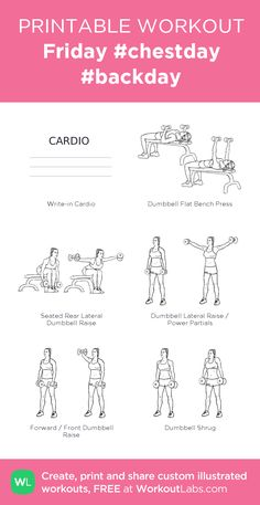Friday #chestday #backday #customworkout Physical Fitness, Yoga Fitness, Fitness Tips, Fitness Motivation, Chest And Back Workout, Back Workout At Home, Gym Workouts, At Home Workouts, Workout Routines