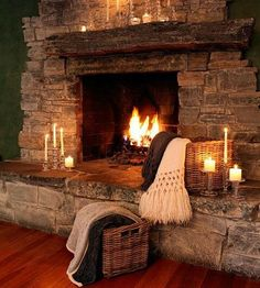 This lovely fireplace is beautiful!