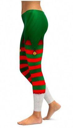 f6d78ed63b694 How Fun are these Elf Pant Leggings from Gear Bunch?! #yogapants Funny  Christmas