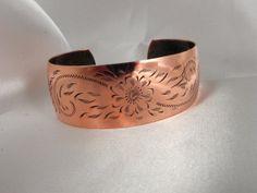 Native American Copper Cuff Bracelet by PattycakesPlunder on Etsy, $20.00