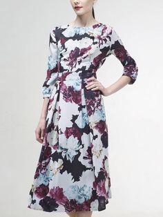 Платье цвет мультиколор, Плательная ткань, артикул 2130180ny0890