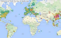 Live map shows the air-pollution level in hundreds of cities around the world