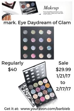 #MakeupMonday  Check out the mark. Eye Daydream of Glam Palette - currently on-sale - see blog article for details  http://thebeautyinyoublog.com/mark-eye-daydream-of-glam-eyeshadow-palette/  #mark #makeup #avon #palette #daydream #glam #avonmakeup #avonrep  Shop for Avon/mark Makeup at:  https://barbieb.avonrepresentative.com?utm_content=buffer970d7&utm_medium=social&utm_source=pinterest.com&utm_campaign=buf…