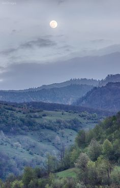 Hills on night Location: Romania