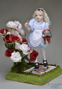 Alice Painting the Roses Red by Penny Waid