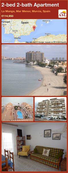 2-bed 2-bath Apartment in La Manga, Mar Menor, Murcia, Spain ►€114,950 #PropertyForSaleInSpain