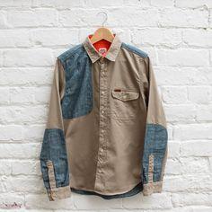 Carhartt Heritage L/S Polk Shirt  Horn / Blue - £114.99