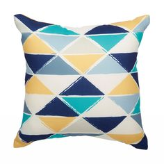 Shop Garden Treasures Geometric Triangles Outdoor Throw Pillow At Loweu0027s  Canada. Find Our Selection Of