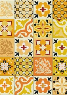 Azulejo Hidráulico Amarelo tiles