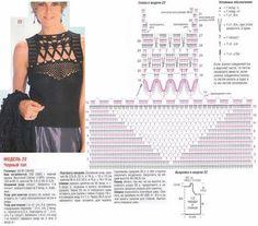 Graficos y Crochet: Blusa negra