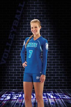 Premium custom volleyball uniforms in girls and adult sizes. Choose your uniform cut and fabric and design with your team logo and player numbers.  #VolleyballTeam #VolleyballJersey #VolleyballUniforms