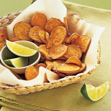 Baked Sweet Potato Chips - Delicious! Just like the ones a wagamama!