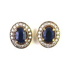 TURKISH OTTOMAN JEWELRY 925 STERLING SILVER  LAB CREATED BLUE SAPPHIRE EAR STUD #SilvexStore #Studs