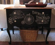 Chalkboard Buffet diy by Scavenger Chic, featured on Funky Junk Interiors