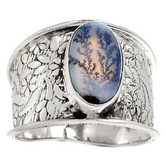 Russian Dendritic Agate 925 Sterling Silver Ring Jewelry s.8 RR7656 | eBay