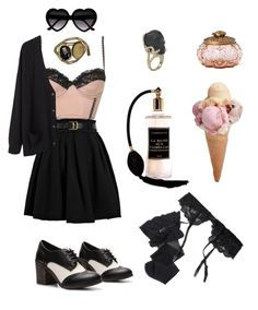 """""""Ice cream time!"""" by my-playground-love ❤ liked on Polyvore featuring Topshop, Preen, Rock & Candy, Organic by John Patrick, Anthropologie and Reger by Janet Reger"""